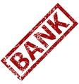 Bank rubber stamp vector image vector image