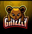 bear mascot esport logo design vector image vector image