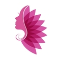 beautiful woman with beauty icon vector image vector image