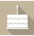 Birthday Cake Flat Web Icon