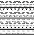 black and white ikat tribal seamless pattern vector image vector image
