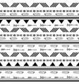 Black and white ikat tribal seamless pattern