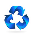 blue recycle arrow business vector image