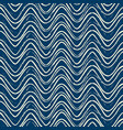 blue seamless pattern with white ripple lines vector image vector image