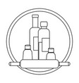 bottles kitchen product icon vector image