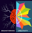 brain storm and creativity concept vector image