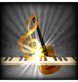 bright musical with a treble clef and piano uno vector image vector image