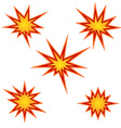 Bursting star set vector image vector image