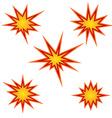 Bursting star set vector image vector image