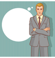 Business man on the background for your text vector image vector image