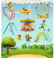 children playground set icons vector image vector image