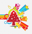 christmas with star celebration background design vector image vector image