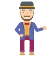Circus actor giving thumb up vector image