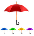 Color Set umbrella vector image vector image