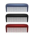 Colorful Combs isolated on white background vector image