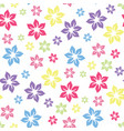 colourful summery floral pattern vector image vector image