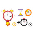 concept quickly approaching deadline big set vector image