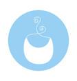 cute baby bib icon vector image