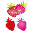 cute strawberry cartoon isolated over white vector image