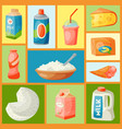 dairy products or milk set vector image vector image