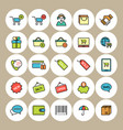 e-commerce and shopping icons set vector image vector image