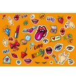 fashion patch badges pop art vector image