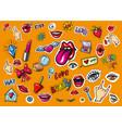 fashion patch badges pop art vector image vector image