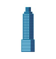 flat skyscraper business center tower building vector image
