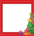 frame for chritsmas theme design vector image