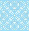 geometric seamless pattern in pastel blue modern vector image vector image