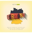 germany map in flat design German border vector image vector image