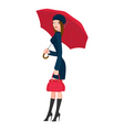 girl with umbrella vector image vector image