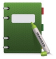 Green Diary vector image vector image