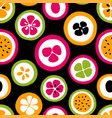 grunge slice of fruits seamless pattern vector image vector image