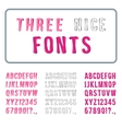 Hand Drawn Font Set Alphabet with Digits vector image