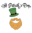 handwritten lettering happy st patricks day vector image