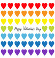 happy valentines day rainbow heart set gay flag vector image vector image