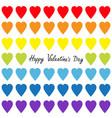 happy valentines day rainbow heart set gay flag vector image vector image
