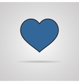 Heart Icon with shadow vector image vector image