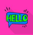 hello icon pop art style vector image vector image