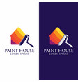 house paint logo painting renovation home vector image