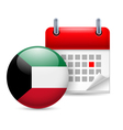 Icon of National Day in Kuwait vector image vector image