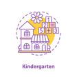kindergarten concept icon vector image vector image