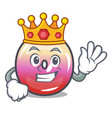 king jelly ring candy mascot cartoon vector image vector image