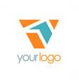 letter v shape color logo vector image vector image