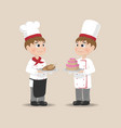men cooking chief cartoon characters vector image
