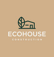 modern professional logo eco house construction on vector image vector image