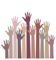 monochrome up hands vector image vector image