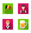 national flag belgians and other symbols of the vector image vector image
