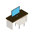 office desk icon vector image vector image
